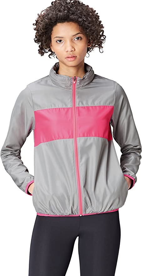 TALLA XS. Activewear Chaqueta Shell Cortavientos para Mujer