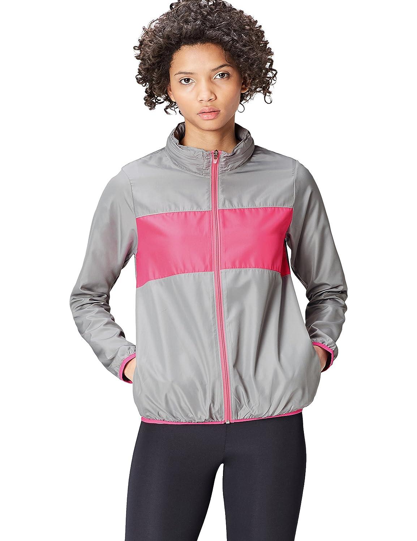 Activewear Women's Track Jacket with Hidden Hood Reflective Stripe SFP-1-l-8