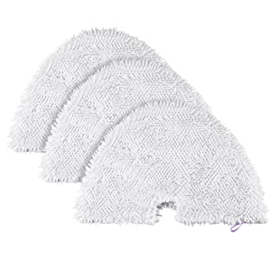Fushing 3Pcs Triangle Washable Microfiber Steam Mop Pads Cleaning Pads Replacement Pads for Shark Steam Pocket Mop S2902,S3455K,S3501,S3550,S3601,S3801,S3801CO,S3901,S4601,S4701,S4701D,SE450
