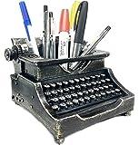 Bellaa 21413 Typewriter Pen Holder Pencil Cup Writing Utensils Desktop Office Vintage Decor