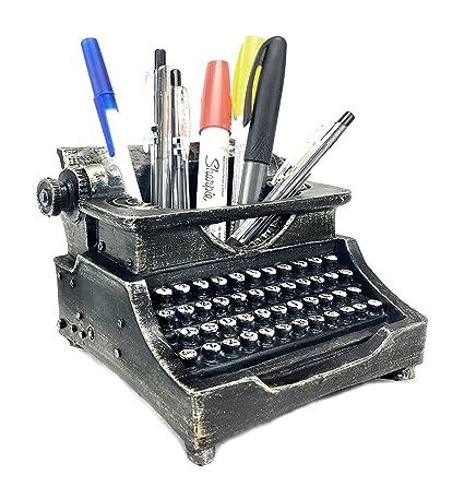 Great Bellaa 21413 Typewriter Pen Holder Pencil Cup Writing Utensils Desktop  Office Vintage Decor