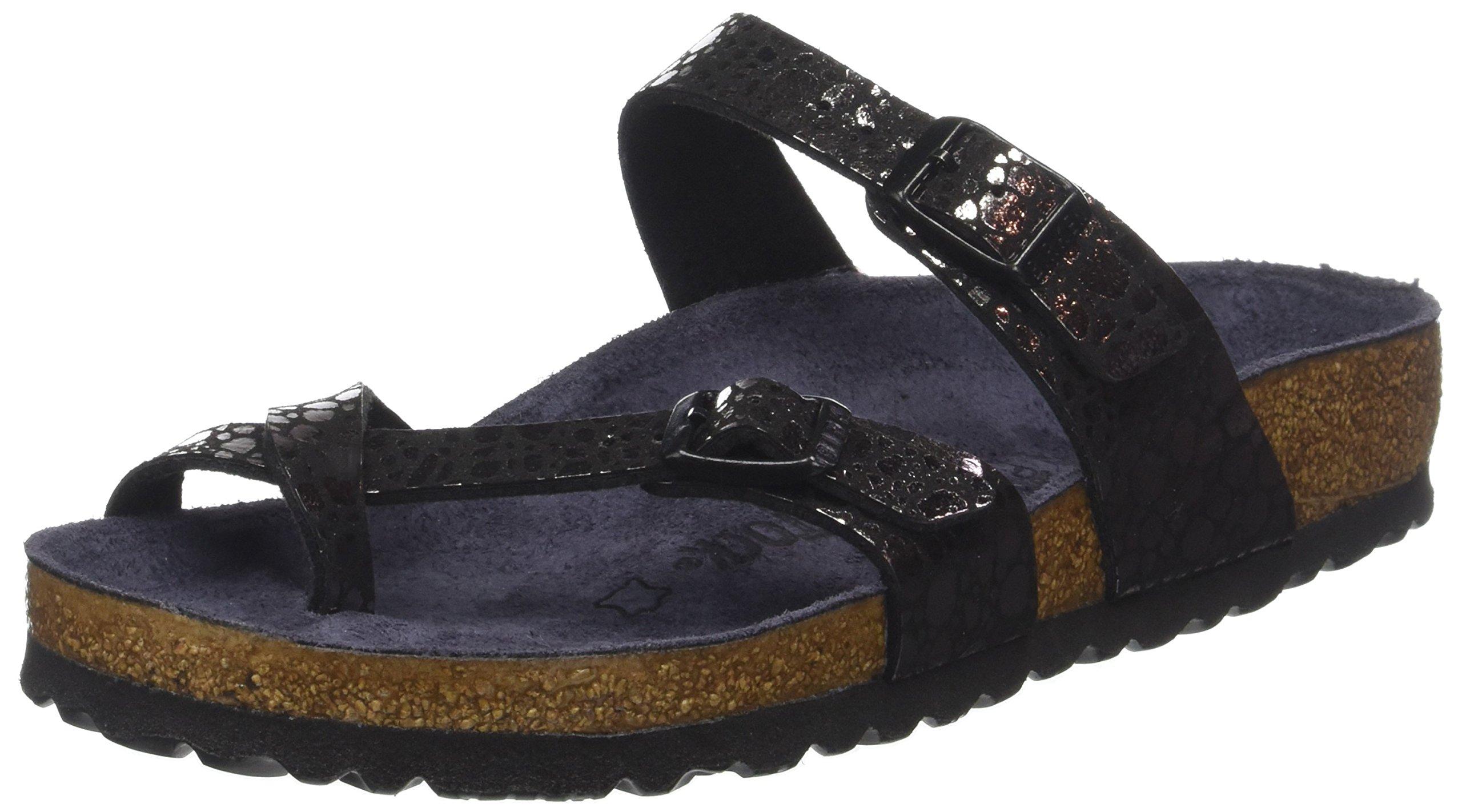 Birkenstock Mayari Birko Flor Sandals 5 B(M) US Women Metalic Stones Black
