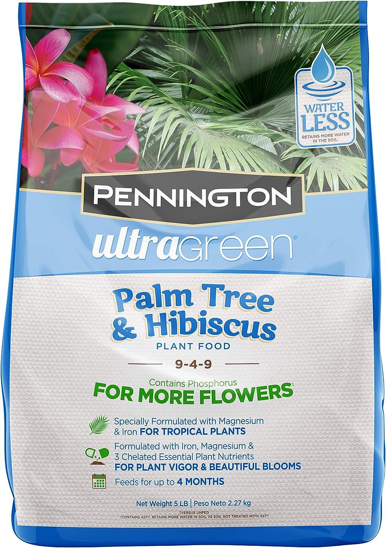 Pennington 100525942 Ultra Green Palm Tree & Hibsicus 9-4-9 Plant Food, 5 lb