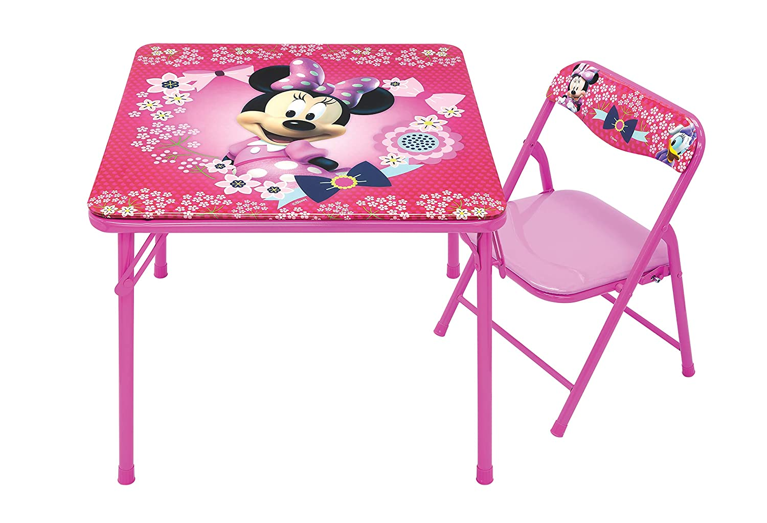 Minnie Mouse Blossoms & Bows Jr. Activity Table Set with 1 Chair Activity Table Set Moose Mountain - Domestic 95579