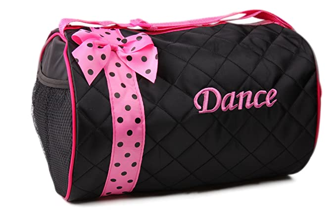 5f4a8a6109 Image Unavailable. Image not available for. Color  Duffle Bag-Quilted Dots-  Black