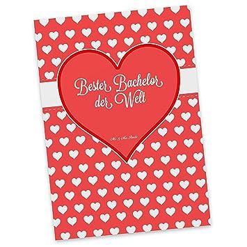 Mr Mrs Panda Postkarte Bester Bachelor Der Welt 100 Mit Liebe