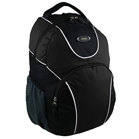 Ladies Mens Large Backpack Rucksack Bag by Jeep Travel Tough Walking Hiking  (Black)  Amazon.co.uk  Luggage ff8b122fc4b17