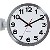 Karlsson 38 cm Dia Double Sided Aluminium Wall Clock, White