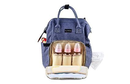 kaybaby pañales mochila bolsa de pañales bolso cambiador de viaje impermeable grande cuidado del bebé elegante