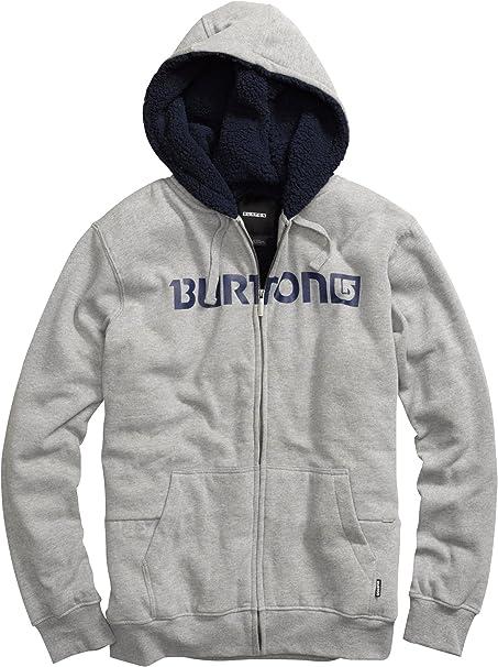 Burton - Sudadera para hombre, tamaño XXL, color gris jaspeado: Amazon.es: Ropa y accesorios