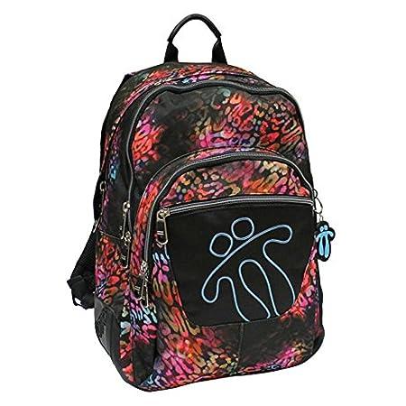 Totto MA04ECO002-1410N-7NX - Mochila escolar con refuerzo crayola, color negro: Amazon.es: Equipaje