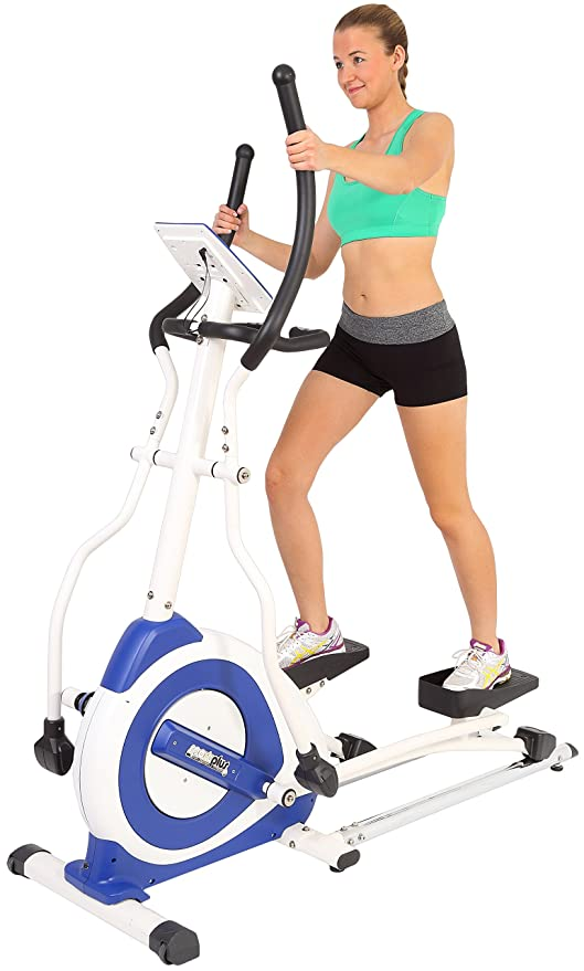 SportPlus cross trainer sp-et-7000-e, blanco/azul: Amazon.es: Deportes y aire libre