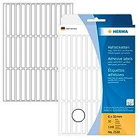 Herma 2530 Étiquettes universelles 6 x 50 mm 1248 pièces Blanc