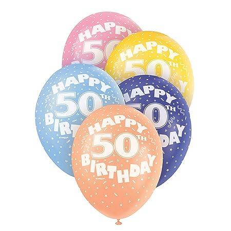 Unique Party - Globos de Latex Variados 50 años cumpleaños ...