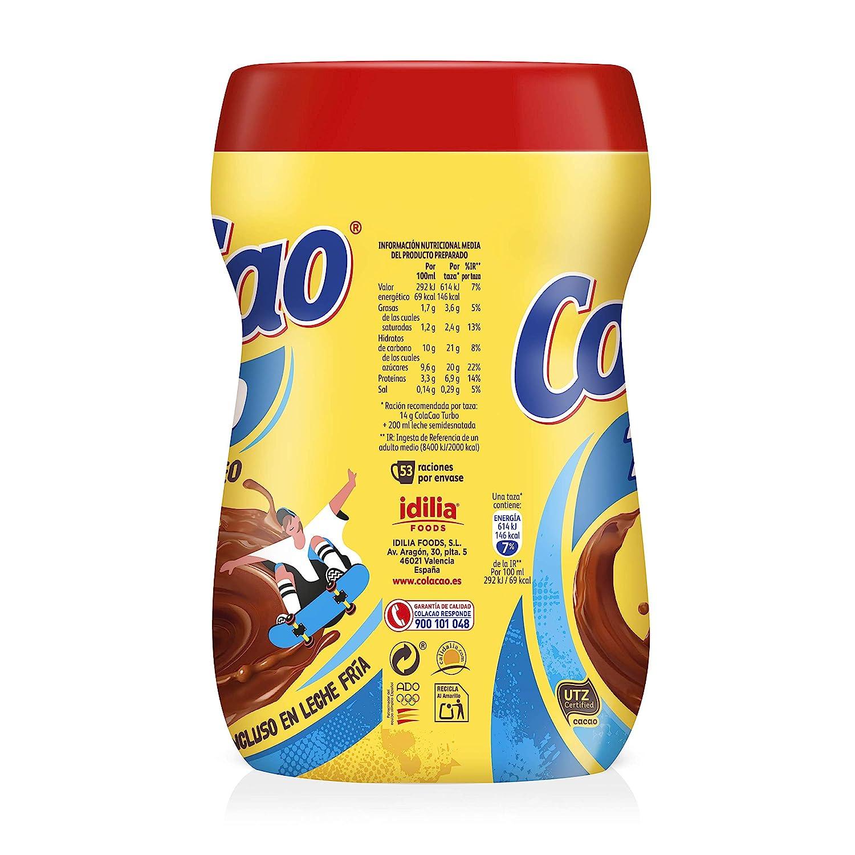 ColaCao Turbo: con cacao instantáneo y sin grumitos - Envase de 750 gramos
