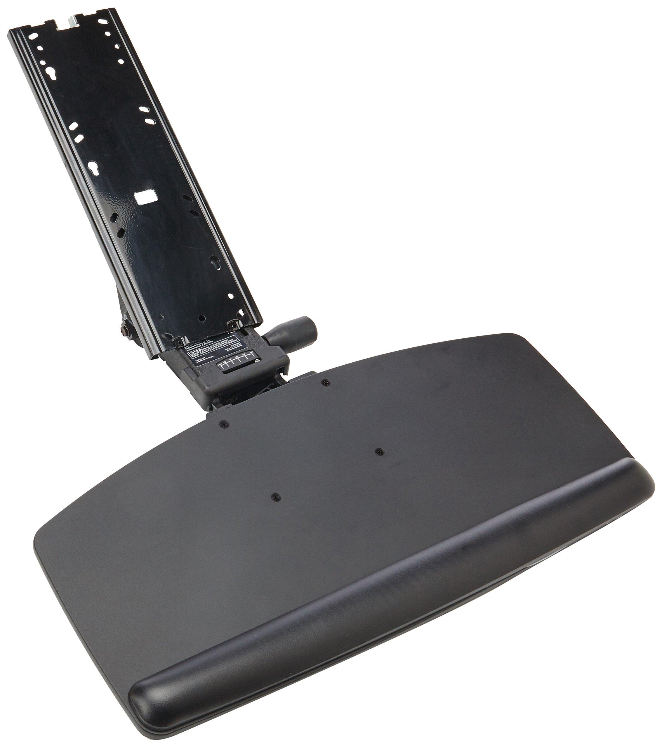 3M AKT91LE Easy Adjust Keyboard Tray With Standard Platform, 17 3/4'' Track, Black