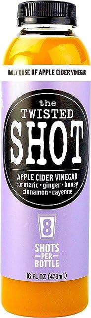 The Twisted Shot | Organic Apple Cider Vinegar Shots with Turmeric, Ginger, Cinnamon, Honey & Cayenne | 16oz Bottle