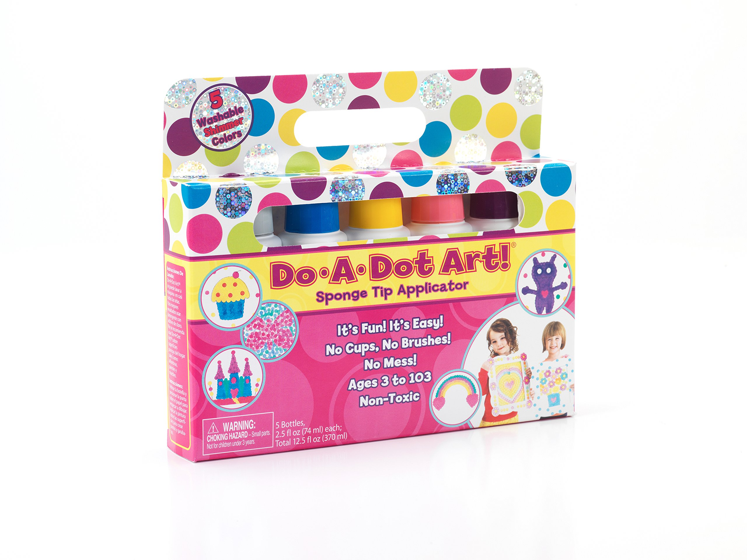 Do A Dot Art Markers 5-Pack Shimmer Washable Paint Markers, The Original Dot Marker