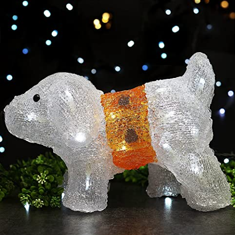 bright zeal 8 acrylic puppy led solar lights outdoor christmas lights outdoor solar powered