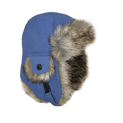 52f6d8e5ac5 Amazon.com  Jeanne Simmons Toddler Trapper Hat with Faux Fur and Chin  Strap