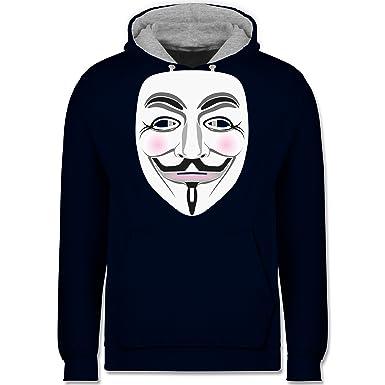 Nerds & Geeks - Anonymous Maske Hacker - Kontrast Hoodie: Shirtracer:  Amazon.de: Bekleidung