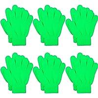 Cooraby 6 pares de guantes mágicos de punto para niños y adolescentes cálidos de invierno elásticos con dedos completos