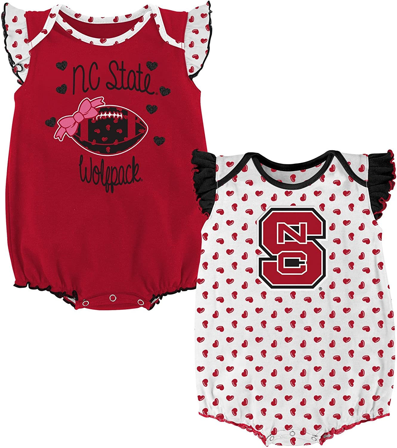 NCAA by Outerstuff NCAA boys Heart Fan 2 Piece Onesie Set