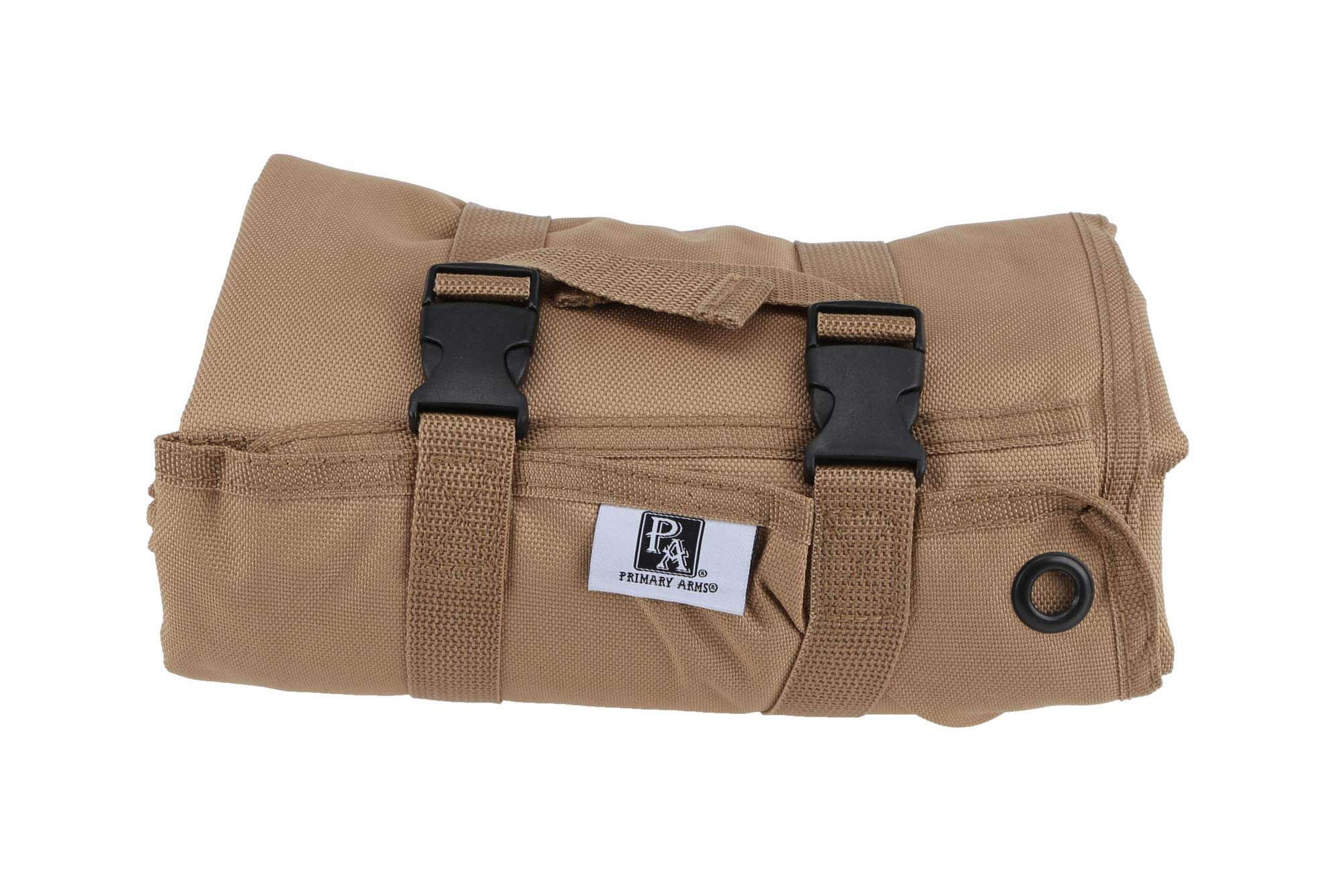 Primary Arms Roll Up Shooting Mat (FDE) - Waterproof, Anti-Bacterial Coating, 72'' L x 30''