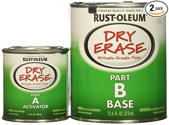 Rust-Oleum 241140-2 PK Dry Erase Kit 241140-2 PK Dry Erase Brush-On Kit, White - - Amazon.com