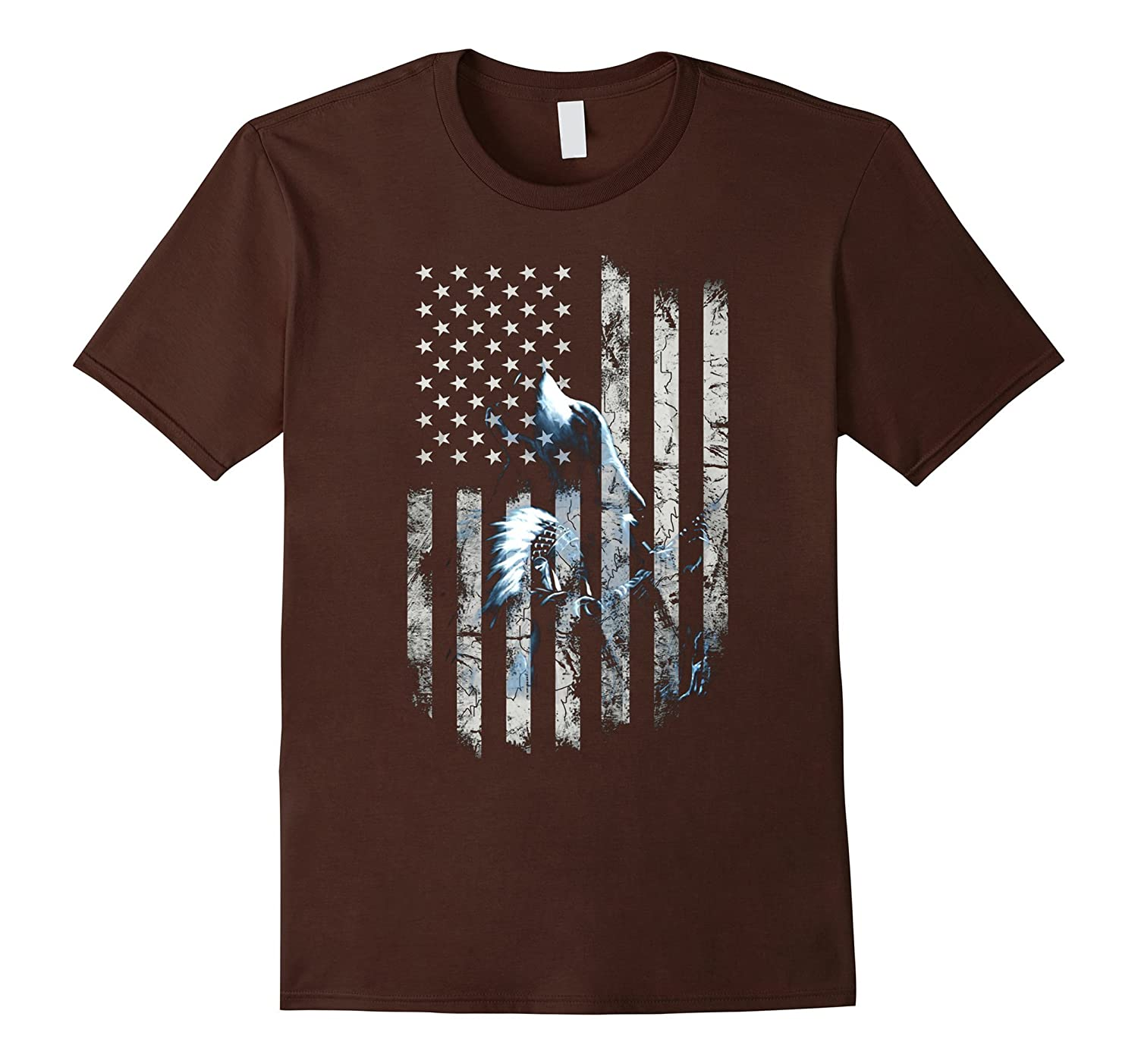 American Flag Wolf Shirts Fourth of July-TH