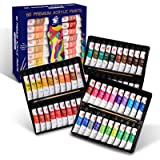 TBC The Best Crafts 20ml x 60 Vibrant Colors Acrylic Paint Set Professional Acryic Paint for Rock Painting Clay Canvas Fabric