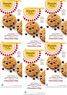 product image for Simple Mills Almond Flour Chocolate Chip Cookies, Gluten Free and Delicious Soft Baked Cookies, Organic Coconut Oil, Good for Snacks, Made with whole foods, 6 Count (Packaging May Vary)