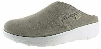 FitFlop Women's Loaff Suede Clogs Timberwolf 5 ...