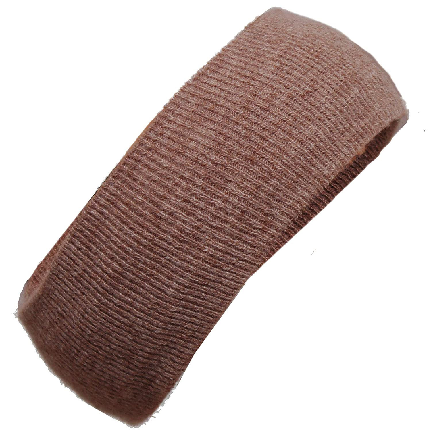 BRUBAKER Mens Or Womans Knit Headband Lambswool / Angora Headband_USA_Brown