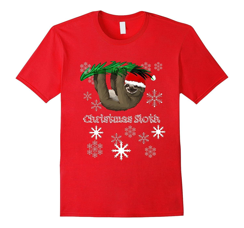 Christmas Sloth T-Shirt - Holiday Sloth Tee-ANZ