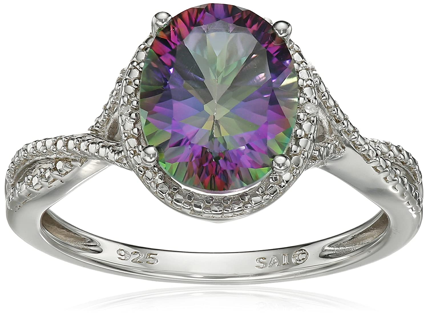 lab rings fire created ae mystic v topaz labcreated in white p frame size ring silver sapphire and sterling