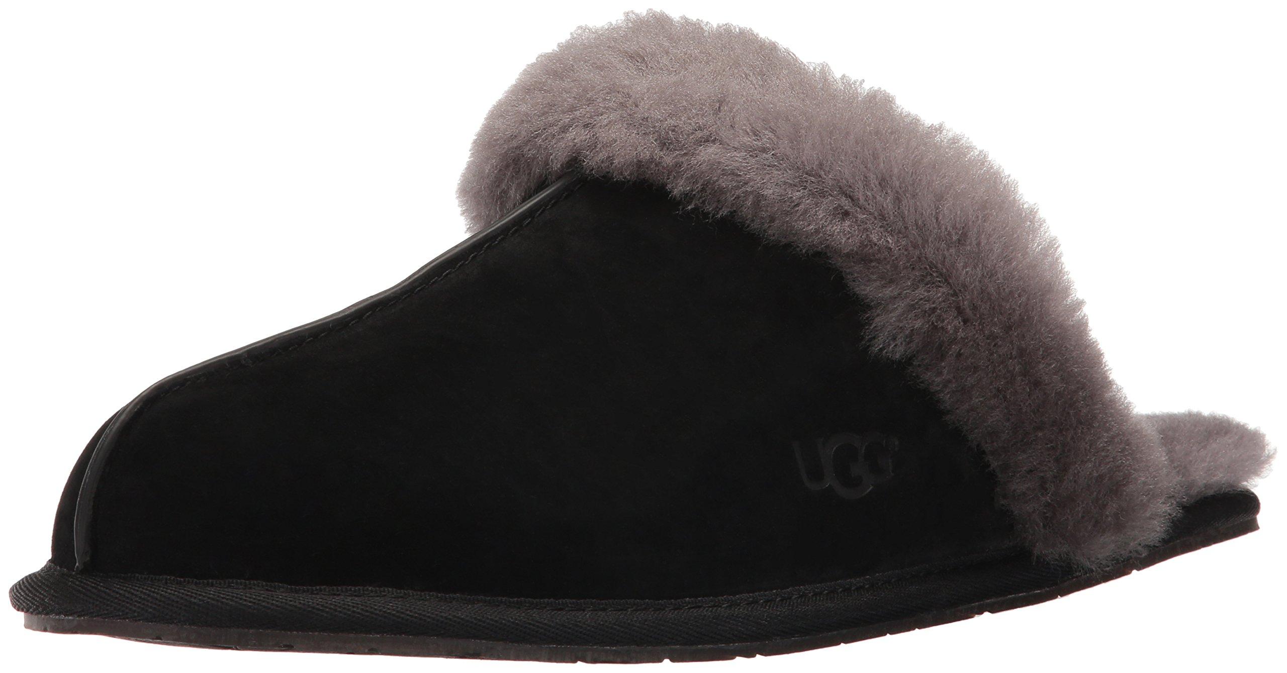 UGG Women's Scuffette Ii Fashion Sneaker, Black/Grey, 6 M US
