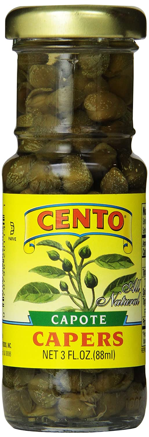 Cento All Natural Capers, 3-Ounce Jars, 3 Fl Oz (Pack of 12)