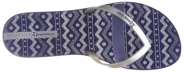 Ipanema Damen Kirei Silk Iii Fem Zehentrenner  35/36 EU|Mehrfarbig (Blue/Silver)