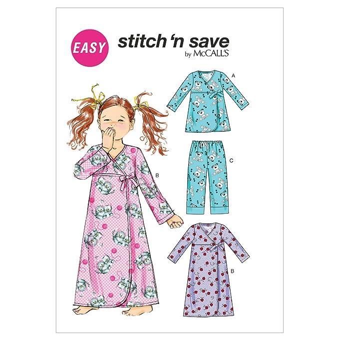 Unbekannt Mc Call´s Schnittmuster 6633 A Kinder Nachthemd,Pyjama Gr ...