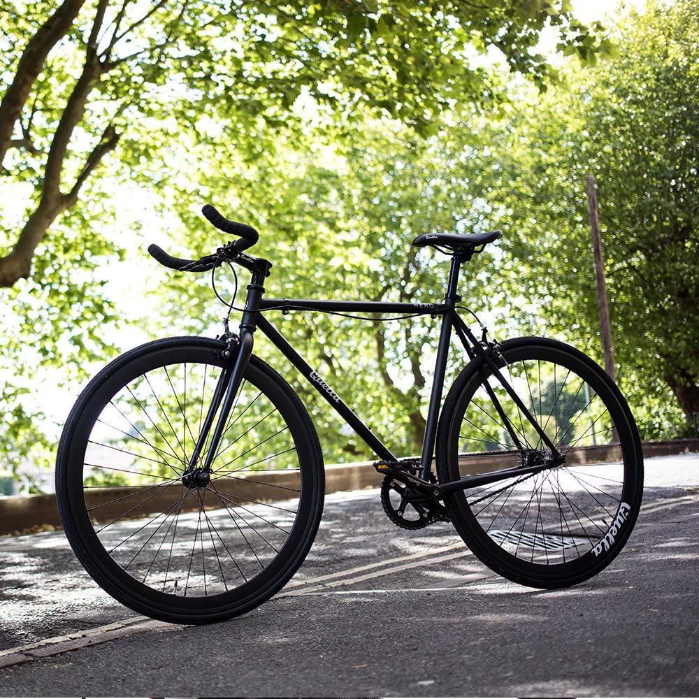 Quella Nero Black fixie fixed gear single speed commuter bicycle