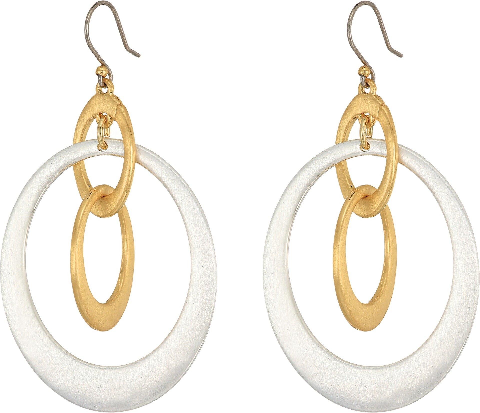 Lucky Brand Women's Orbital Drop Earrings Two-Tone One Size