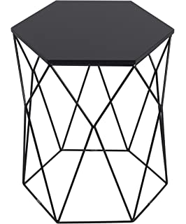Serta Element Geometric Side Table, Midnight Black