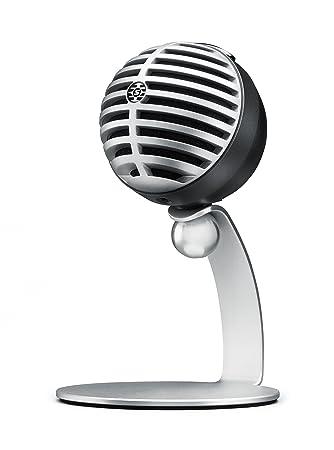 Shure MV5-LTG Digital Condenser Microphone for USB and Lightning, 3 DSP  Preset Modes, integrated pre-amp, Zero Latency Monitoring, Headphone jack,