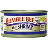 Bumble Bee Tiny Shrimp, 4-Ounce Cans (Pack of 12)