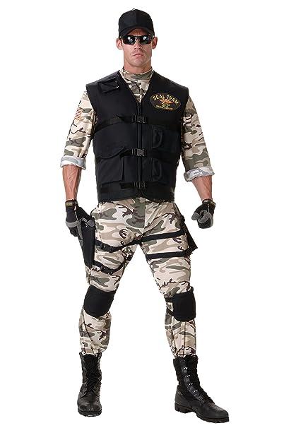 Amazon.com: Disfraz Underwraps de Seal Team para hombre ...