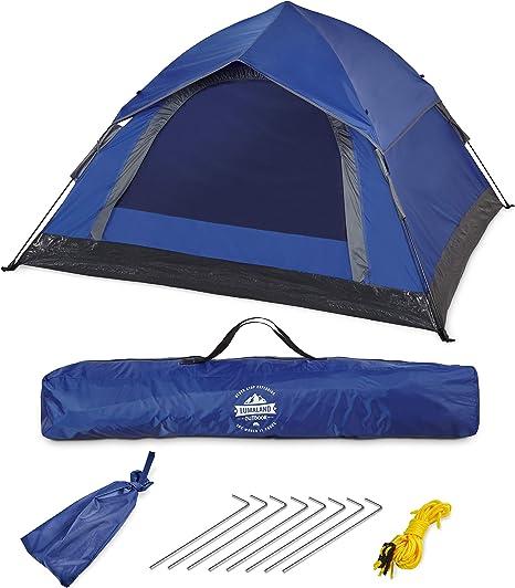 Imagen deLumaland Tienda de campaña Outdoor Light Pop Up Ligera para 3 Personas Camping Acampada Festival 210 x 190 x 110 cm