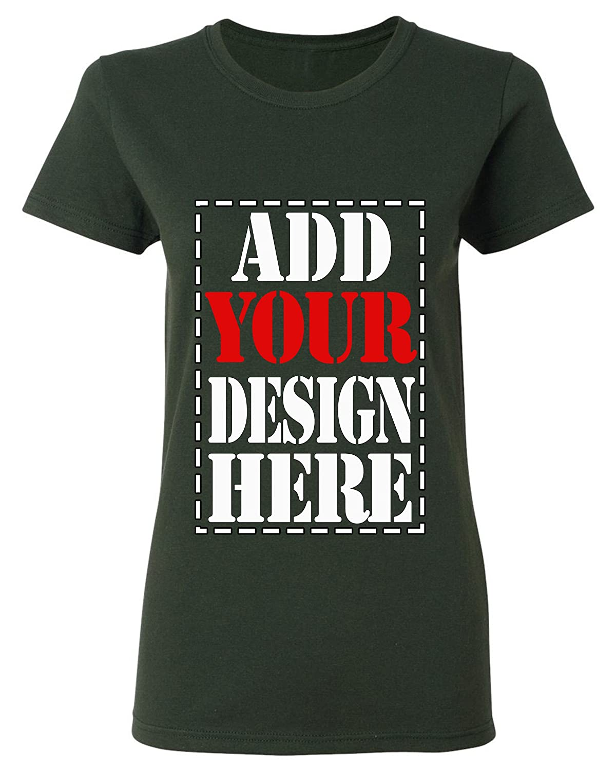 d1a70261f Amazon.com: Design Your OWN Shirt Customized T-Shirt - Add Your Picture  Photo Text Print - Women Tee (Slim Fit): Clothing