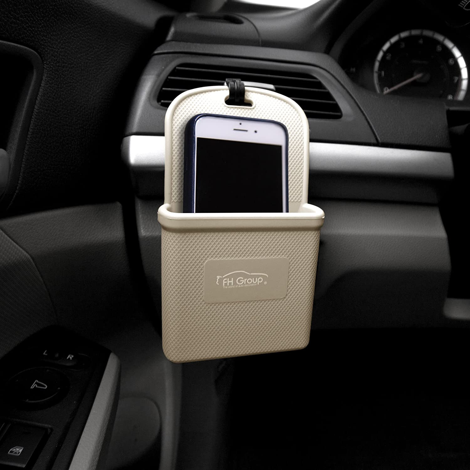 FH Group FH3022BEIGE Beige Silicone Car Vent Mounted Phone Holder (Smartphone works with IPhone Plus Galaxy Note Beige Color)