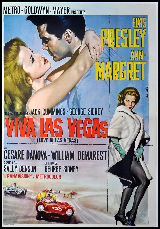 Viva Las Vegas imán para nevera Elvis francés Póster de película ...